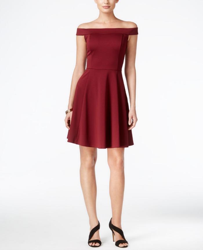 off-the-shoulder-red-dress