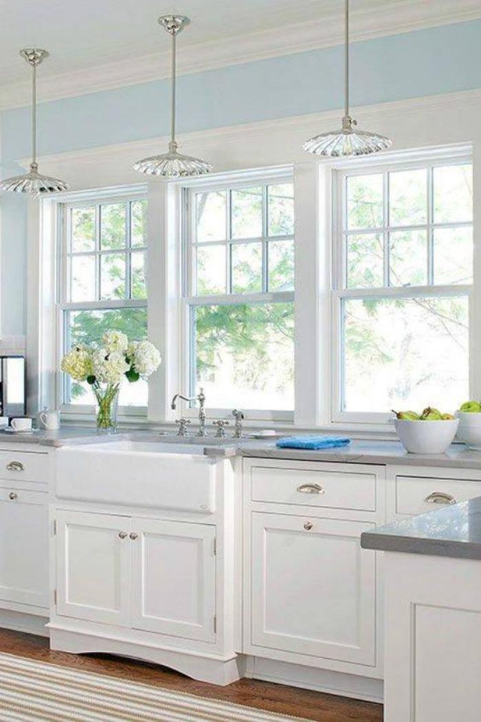 25 Gorgeous Kitchens with Farmhouse Sinks - Connecticut in ... on Farmhouse Kitchen Sink Ideas  id=88796