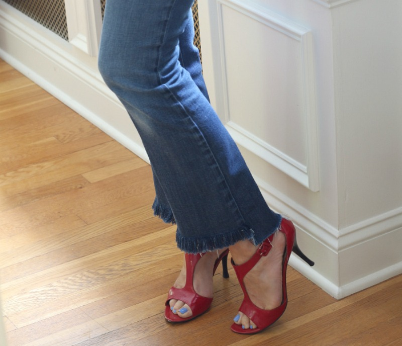 DIY Cropped and Fringe Jeans