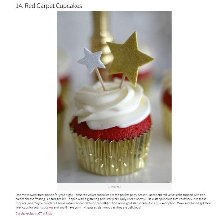 CT in Style Red Carpet Cupcakes