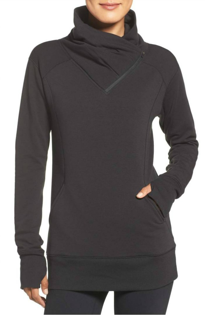Frosty Asymmetrical Zip Pullover
