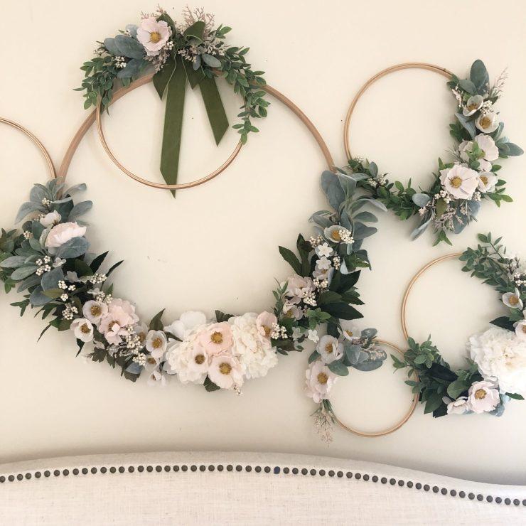 DIY Hoop Wreaths
