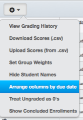 GradeBook Customization Screenshot