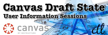 Canvas Draft State User Information Sessions