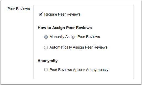 Canvas Anonymous Peer Review Feature