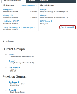 Group Feature Changes