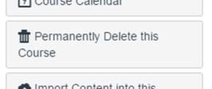Image of Canvas Permanently Delete this Course Button