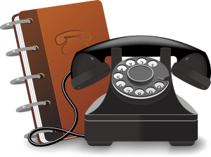 Decorative: Rotary Phone with Phone Book