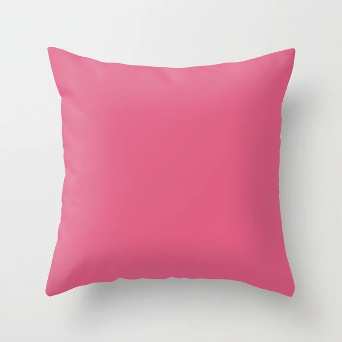 From The Crayon Box – Blush Pink - Bright Pink Solid Color Throw Pillow