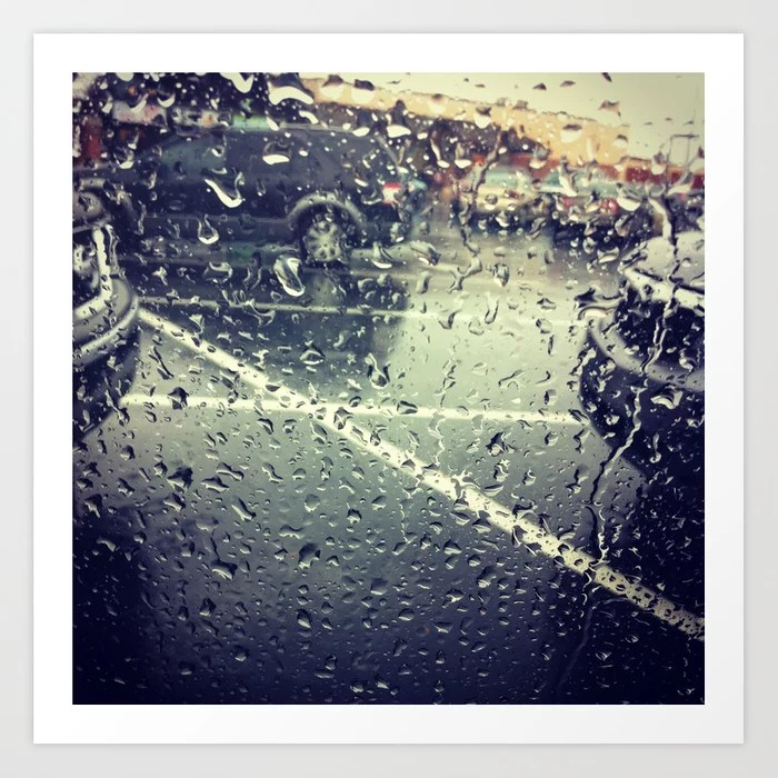 Sunday's Society6 | Rain photo art print