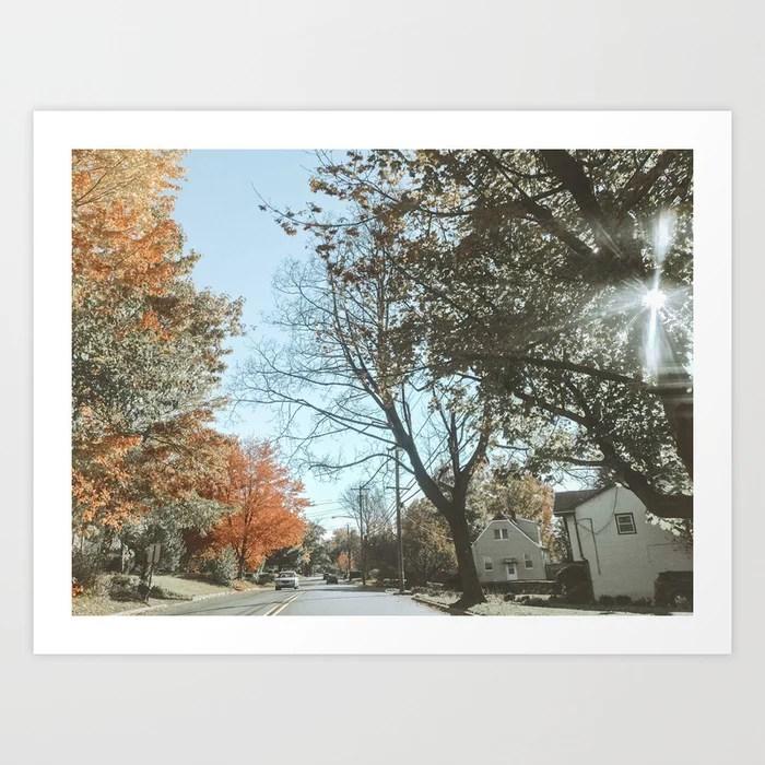 """Autumn Drive"" Art Print | Dreamery Events || Society6"