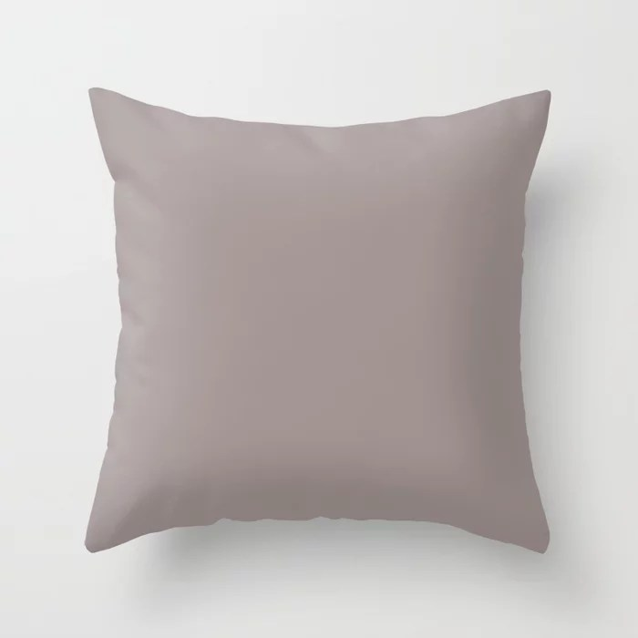 Timeless Mauve Pastel Purple Pink Solid Color Coordinates w/ Sherwin Williams Auger Shell SW 9159 Throw Pillow