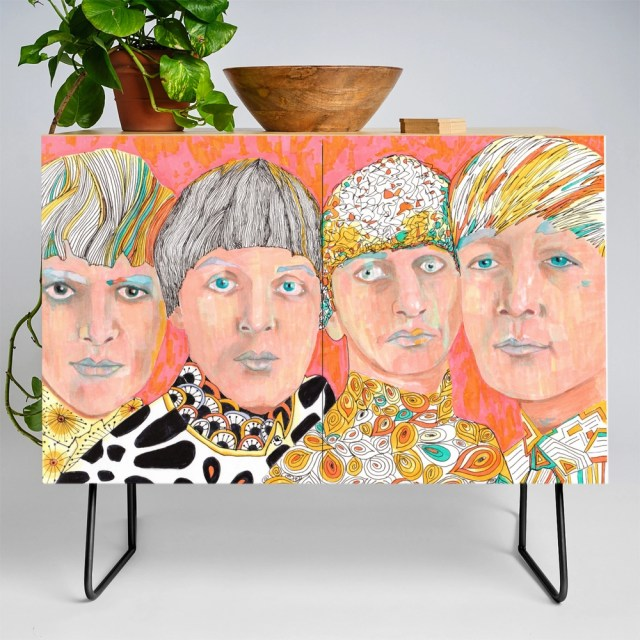 The Mop Tops John Ringo Paul George Credenza by annabellstudio