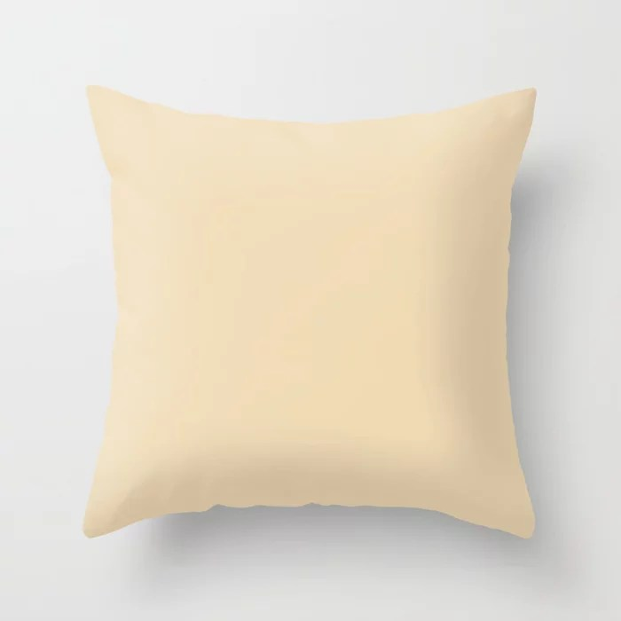 Light Buff Beige Single Solid Color Pairs HGTV 2021 Color Of The Year Accent Shade Diamond Weave Throw Pillow