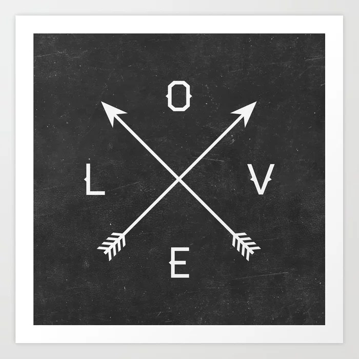 Sunday's Society6 | Love arrows art print