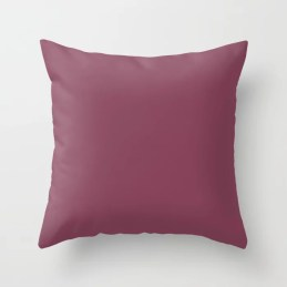 Muted Pink Purple Solid Color Pairs To Sherwin Williams 2020 Trending Color Palette Juneberry SW6573 Throw Pillow