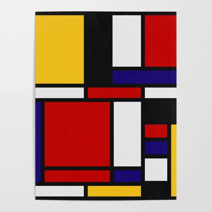 Mondrian De Stijl Art Movement Poster By Saadana Society6