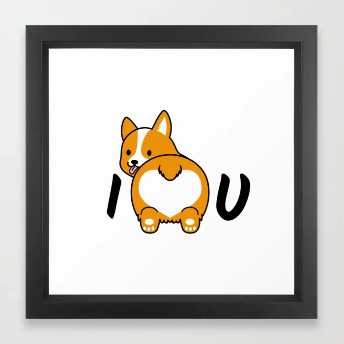 Download I love corgis and you Framed Art Print by stardustfree ...
