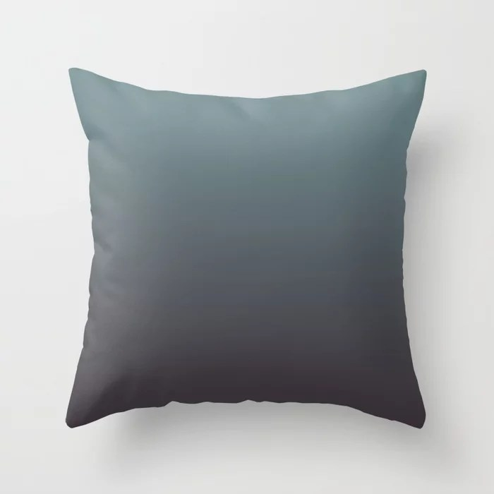 Cool Tropical Blue-Green Purple Gradient Blend 2021 Color of the Year Aegean Teal and Tulsa Twilight Throw Pillow