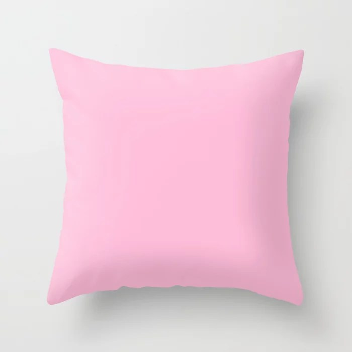 From The Crayon Box – Cotton Candy Pink - Pastel Pink Solid Color Throw Pillow