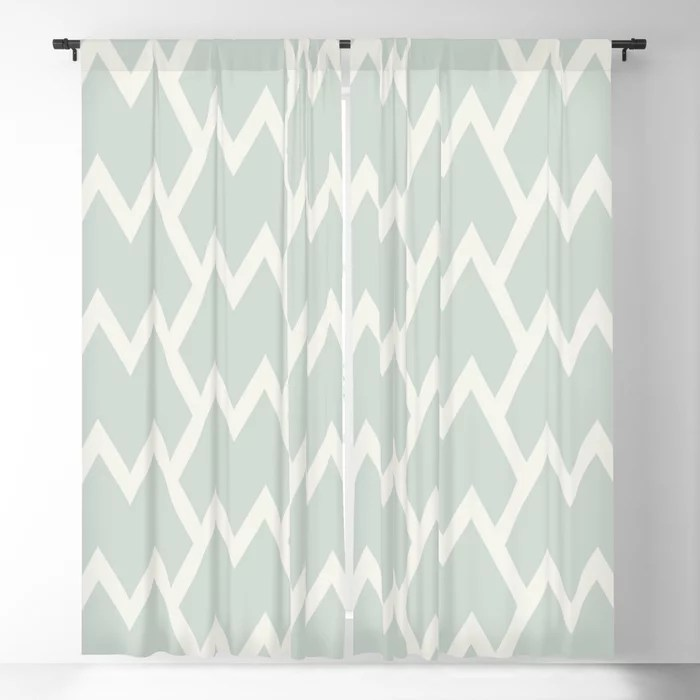 Mint Green and Cream Tessellation Pattern 18 Behr 2022 Color of the Year Breezeway MQ3-21 Blackout Curtain. Spring/Summer 2022 color forecast