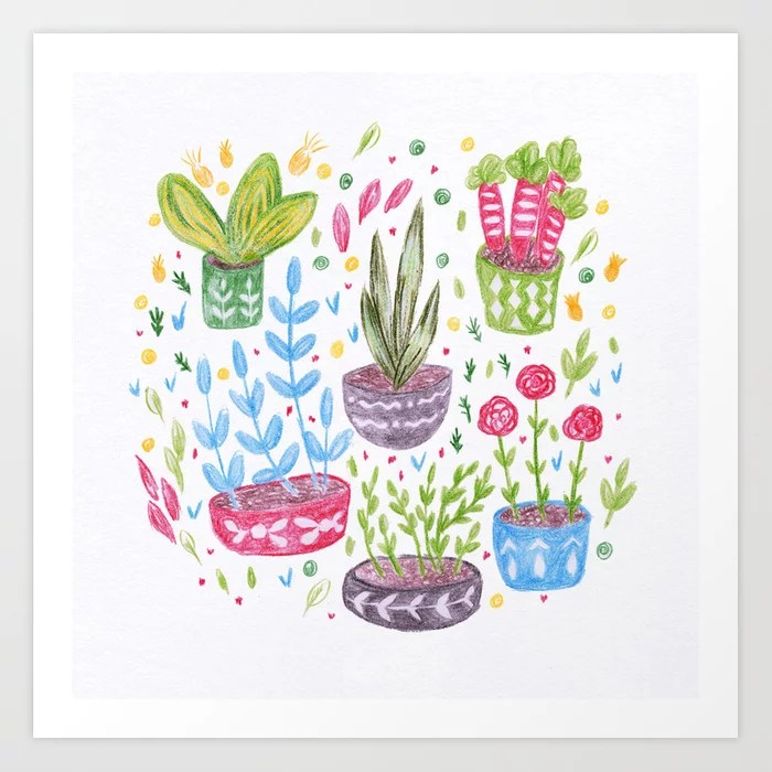 Sunday's Society6 | Flowers in pot spring art print