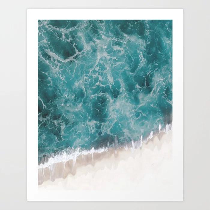 Sunday's Society6 | Ocean waves art print
