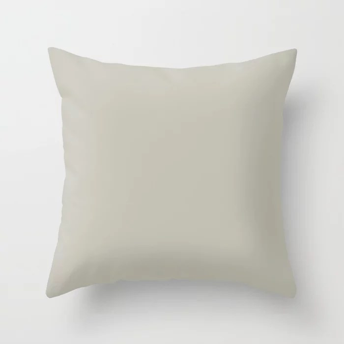 Barely Khaki Light Brown Solid Color Pairs To Benjamin Moore Winterwood 1486 Throw Pillow