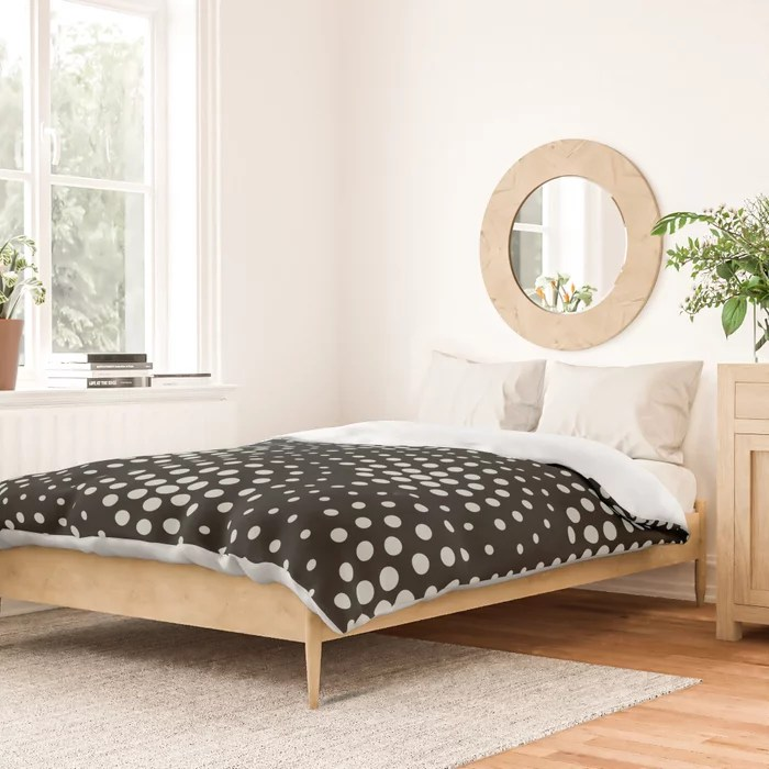 Mint Green and Black Polka Dot Scallop Pattern Behr 2022 Color of the Year Breezeway MQ3-21 Duvet Cover. Color forecast 2022