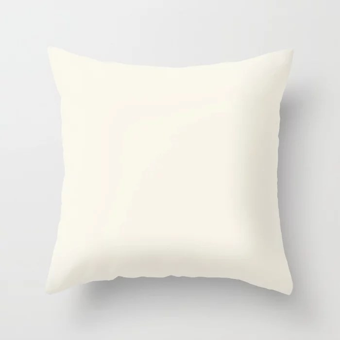 Off White Solid Color Pairs To Dunn and Edwards Swiss Coffee DEW341 Throw Pillow