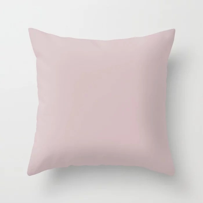 Behr Embroidery - Soft Pastel Pink PPU17-09 Solid Color Throw Pillow