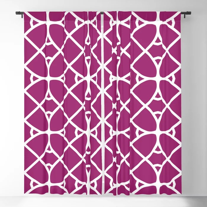 Magenta and White Oval Shape Pattern - Colour of the Year 2022 Orchid Flower 150-38-31 Blackout Curtain - 2022 color trends interior design