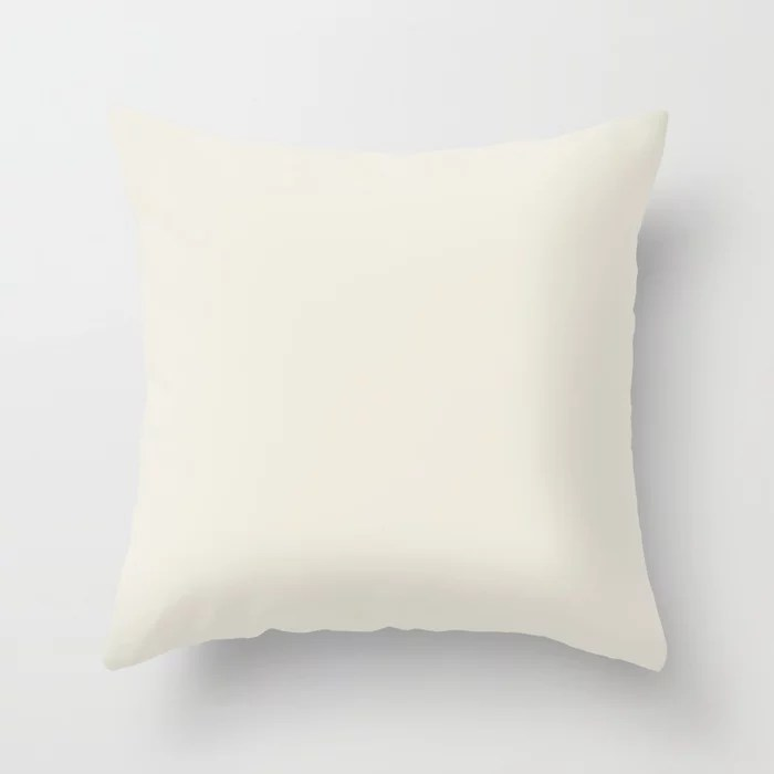 PPG Glidden Accent Color to Aqua Fiesta, Horseradish Off White PPG1086-1 Solid Color Throw Pillow
