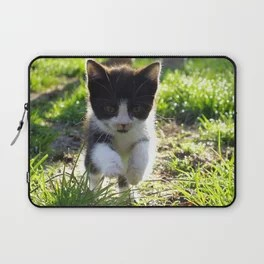 A Tuxedo Kitten Named Seven Laptop Sleeve