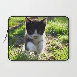 A Tuxedo Kitten Named Seven Laptop Sleeve