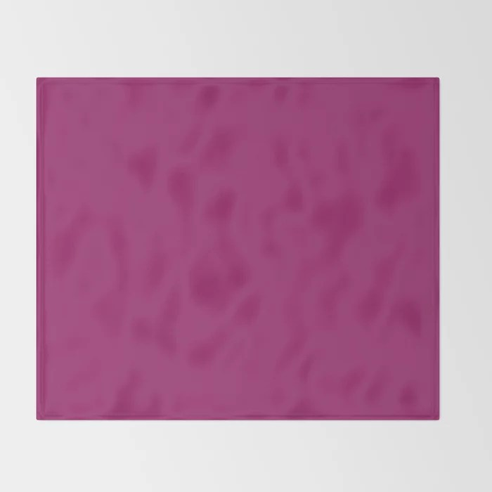 Orchid Flower Deep Pink Purple Solid Color 2022 Colour of the Year Throw Blanket. 2022 color trend - color scheme