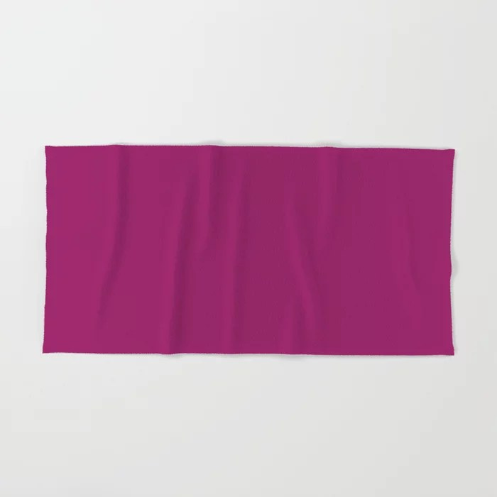 Orchid Flower Deep Pink Purple Solid Color 2022 Colour of the Year Hand & Bath Towel. 2022 color trend - color scheme