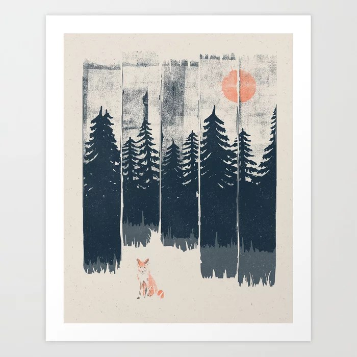 Sunday's Society6 | Outdoor fox in forest art print