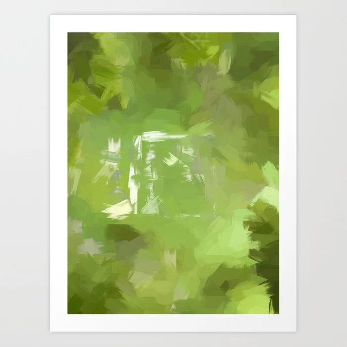 Sunday's Society6 | Greenery painting art print