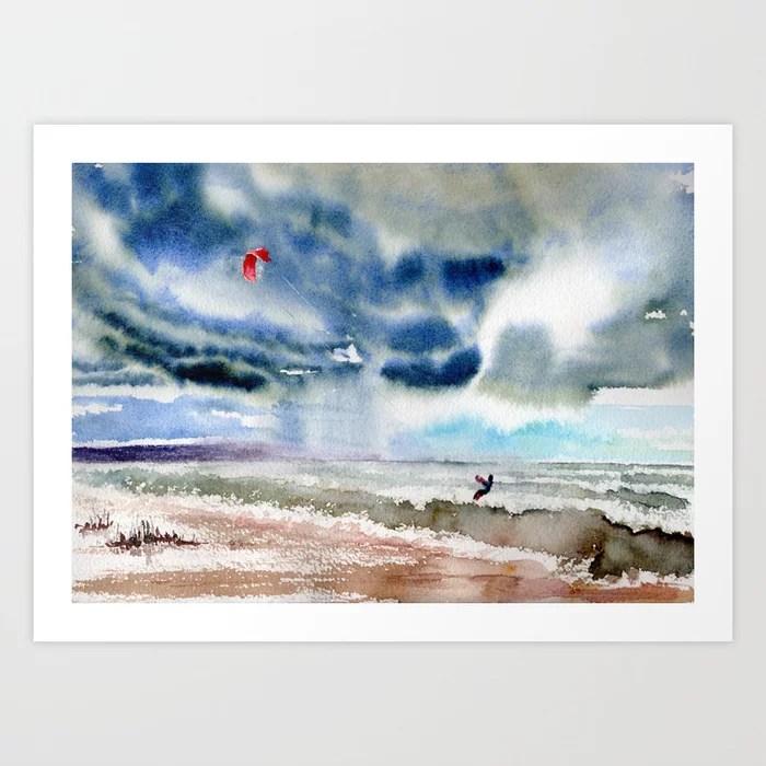 Sunday's Society6   Storm landscape art print