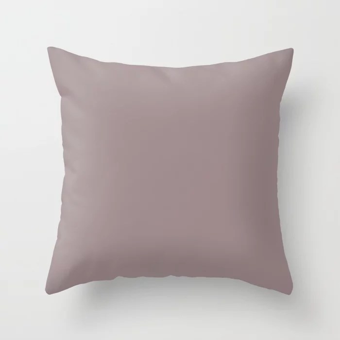 Light Pinkish Purple Solid Color Throw Pillows inspired by and pairs to (matches / coordinates with) Graham & Brown 2021 Color of the Year Accent Hue Spiced Mulberry