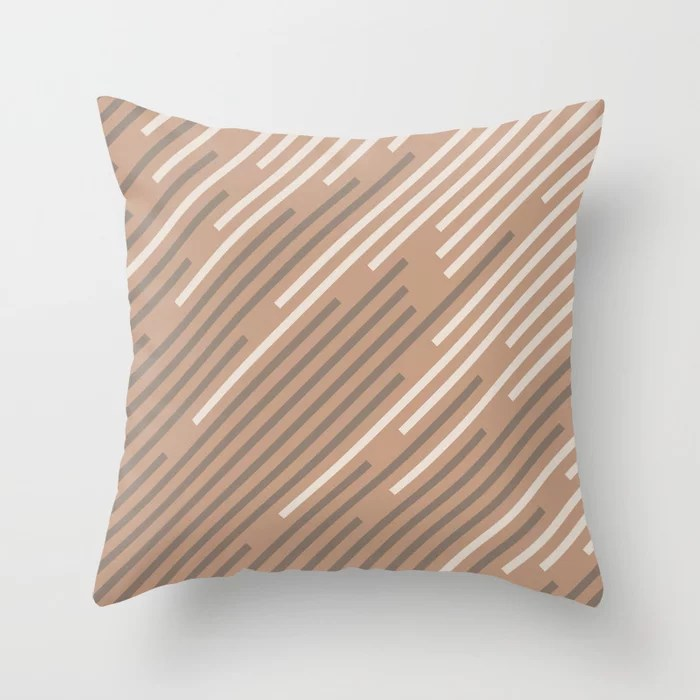 Sandstorm Beige Creamy Off White Mid-tone Brown 2021 Color of The Year Canyon Dusk Accent Shades Throw Pillow