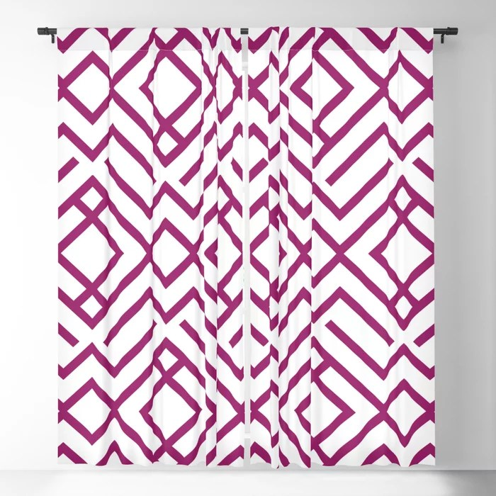 Magenta and White Chevron Stripe Pattern - Colour of the Year 2022 Orchid Flower 150-38-31 Blackout Curtain - 2022 color trends interior design