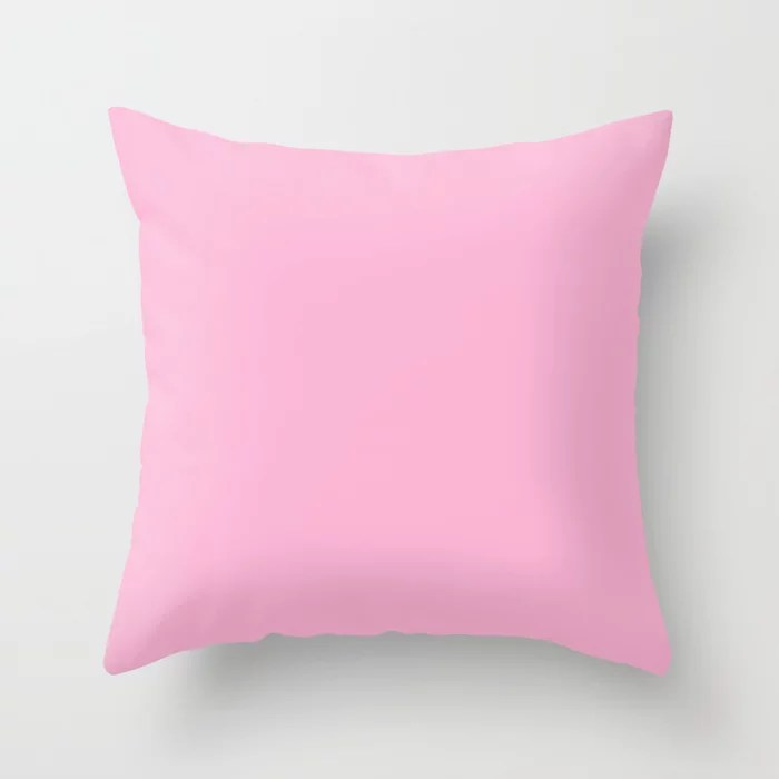 From The Crayon Box – Lavender - Pastel Purple Pink Solid Color Throw Pillow