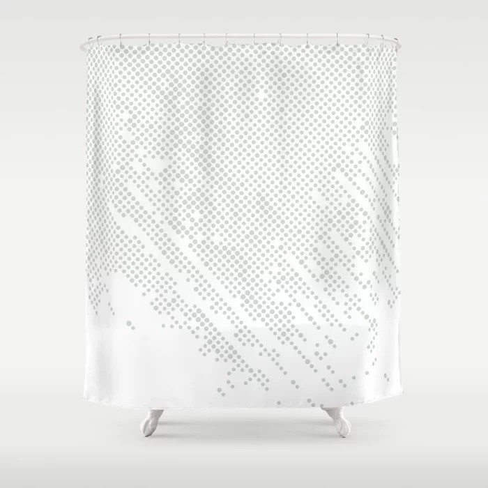 Mint Green and White Polka Dot Abstract Pattern Behr 2022 Color of the Year Breezeway MQ3-21 Shower Curtain. 2022 color trend