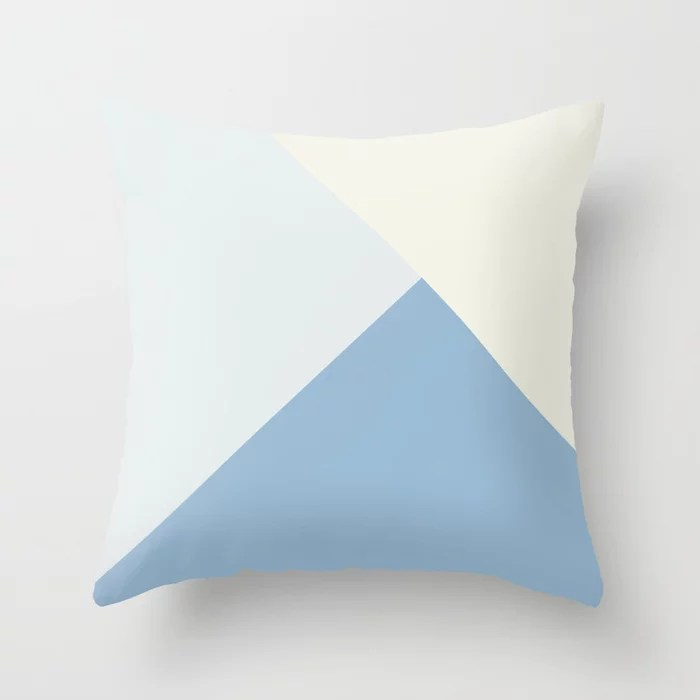 Pastel Blue Off White Solid Color Shapes Throw Pillows inspired by and pairs to (matches / coordinates with) Dutch Boy 2021 Color of the Year Earth's Harmony & Accent Hues