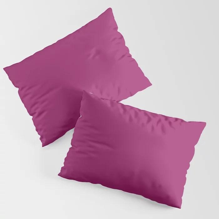 Orchid Flower Deep Pink Purple Solid Color 2022 Colour of the Year Pillow Sham. 2022 color trend - color scheme