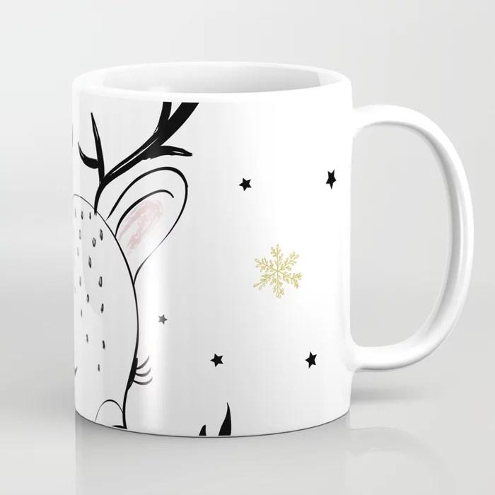 Cute Doe Christmas Design Coffee Mug By Senaykurtulus Society6