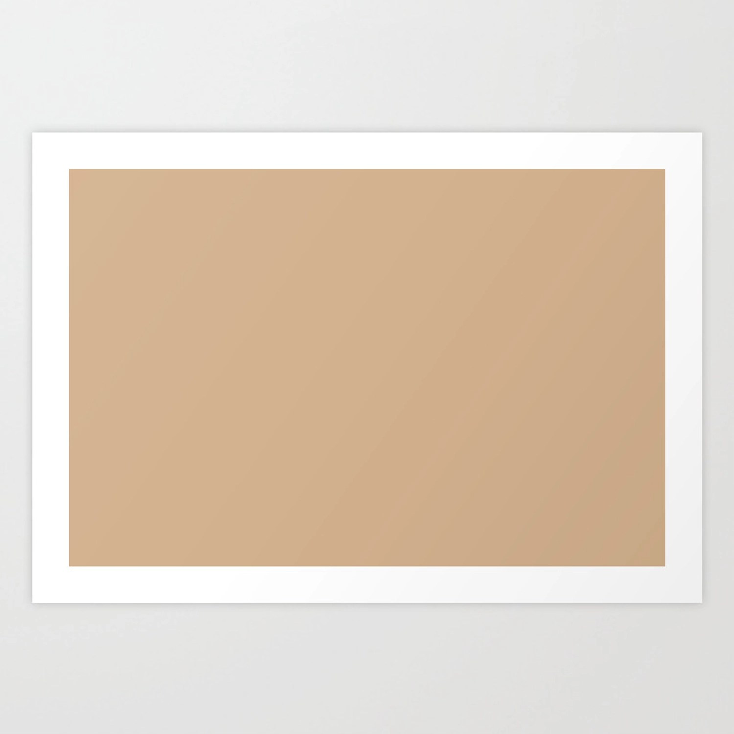 Sherwin Williams Ligonier Tan Light Brown Beige Sw 7717 Solid Color Art Print By Simplysolids Society6