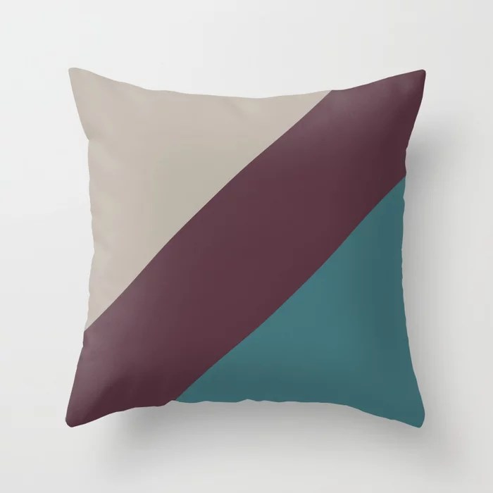 Purple Aqua Taupe Gray Stripe Pattern 2021 Color of the Year Epoch and Accent Shades